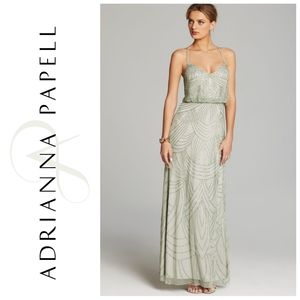 NWT Adrianna Papell beaded blouson dress (BHLDN)
